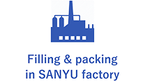 Filling & packing in SANYU factory