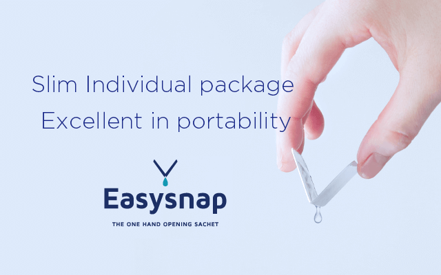 Slim individual package Excellent in portability